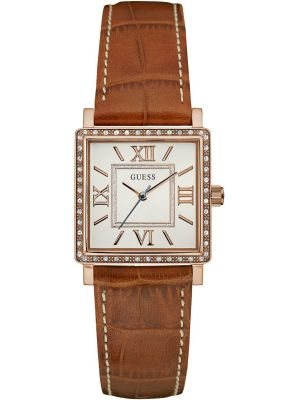 Womens Guess Highline Square Brown Strap W0829L4 Watch