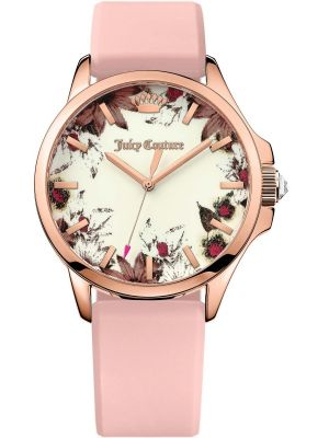 Womens Juicy Couture Jetsetter Rose Gold Pink Strap 1901485 Watch