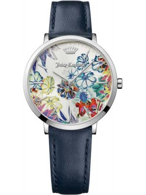 Womens Juicy Couture Ultra Slim Flower Dial Strap 1901455 Watch