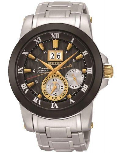 Mens Seiko Premier Kinetic Perpetual Calendar SNP129P1 Watch