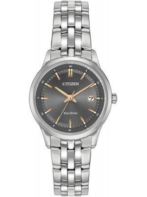 Womens Citizen Sapphire Collection Steel Grey Dial EW2400-58H Watch