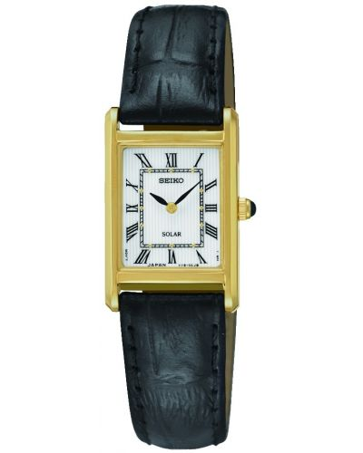 Womens Seiko Solar Rectangular on Strap SUP250P1 Watch