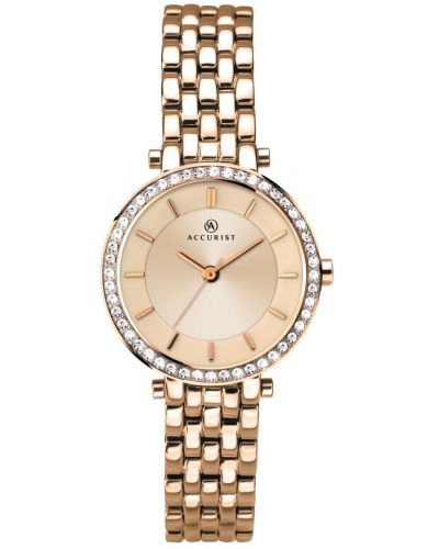 Womens Accurist Dress Rose Crystal Bezel 8124.00 Watch