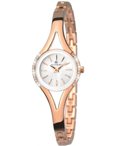 Womens Accurist Dress Crystal Set Rose Gold 8135.00 Watch