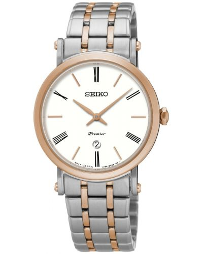 Womens Seiko Premier Rose Two Tone Bracelet SXB430P1 Watch