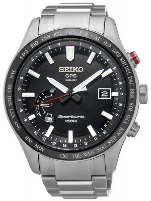 Mens Seiko Sportura GPS Solar Steel SSF003J1 Watch