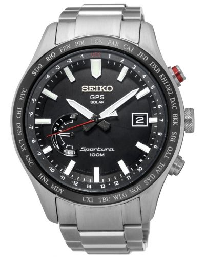 Mens Seiko Sportura GPS Solar Steel SSF003J1 Watch