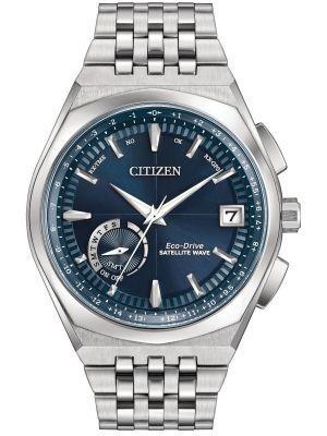Mens Citizen Satellite Wave World Time GPS Steel CC3020-57L Watch