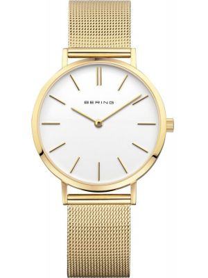 Womens Bering Classic Minimal Gold Mesh 14134-331 Watch