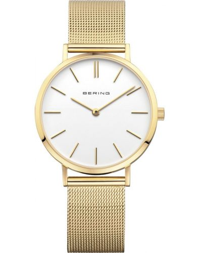 Womens Bering Classic Minimal Gold Mesh 14134-331 Watch