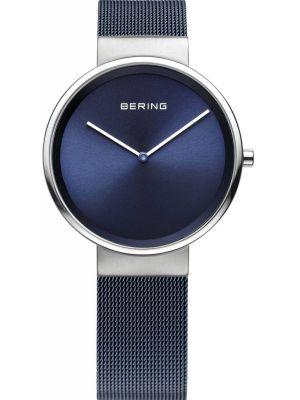 Womens Bering Classic Minimal Blue Mesh 14531-307 Watch