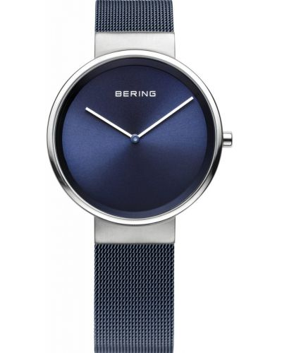 Womens Bering Classic Minimal Blue Mesh 14531-307 Watch