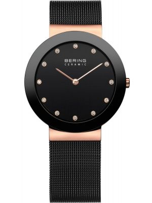 Womens Bering Classic Black Mesh 11435-166 Watch