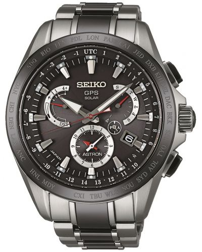 Mens Seiko Astron dual time chrono SSE041J1 Watch