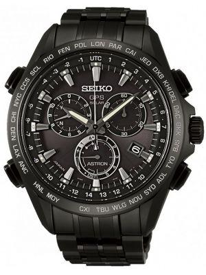 Mens Seiko Astron GPS Satellite Controlled Black Chrono SSE009J1 Watch