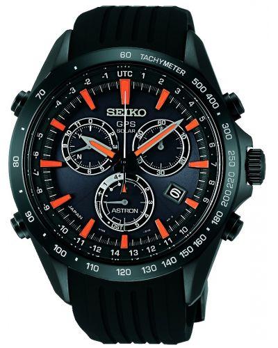 Mens Seiko Astron Solar GPS Chronograph SSE017J1 Watch