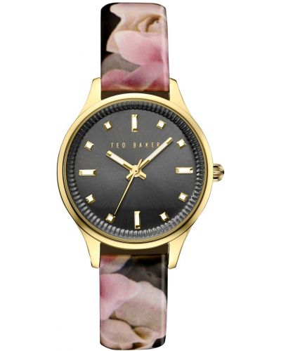 Womens Ted Baker Ladies Floral Gold Plated TE10030742 Watch