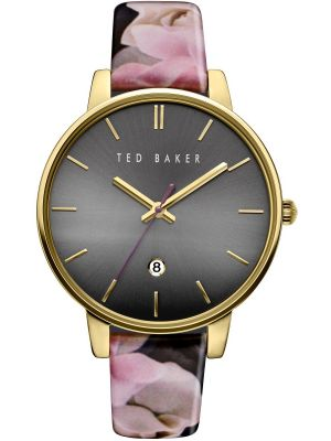 Womens Ted Baker Ladies Gold Oversized Floral TE10030696 Watch