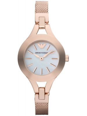 Womens Emporio Armani Classic Rose mother of pearl AR7329 Watch