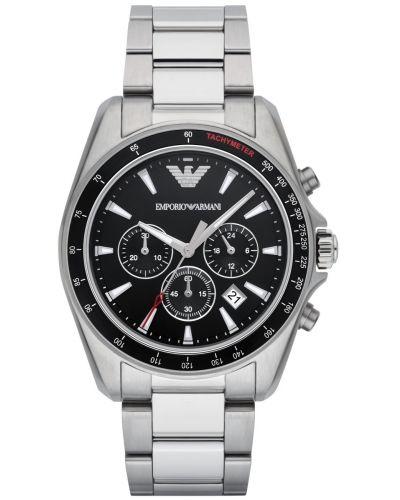 Mens Emporio Armani Sport Steel quartz chronograph AR6098 Watch