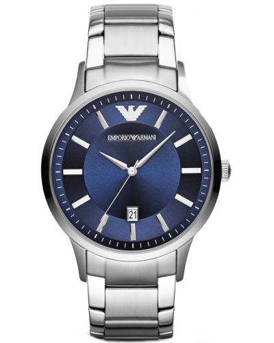 Mens Emporio Armani Classic Bold Blue designer Steel AR2477 Watch