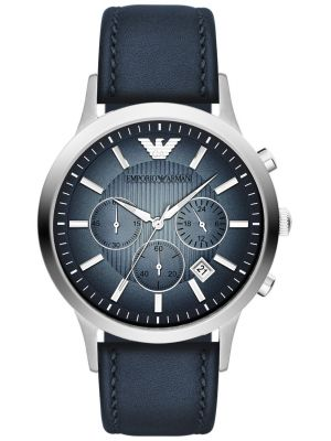 Emporio Armani Classic Blue steel Chronograph AR2473 Watch