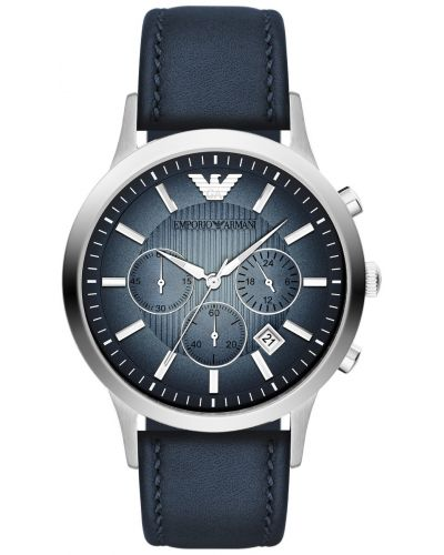 Mens Emporio Armani Classic Blue steel Chronograph AR2473 Watch