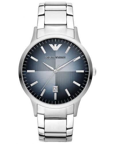 Mens Emporio Armani Classic Blue Dial Steel dress AR2472 Watch