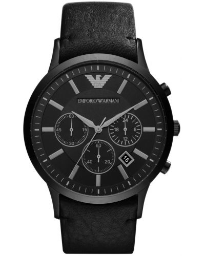 Mens Emporio Armani Classic black ion Chronograph AR2461 Watch