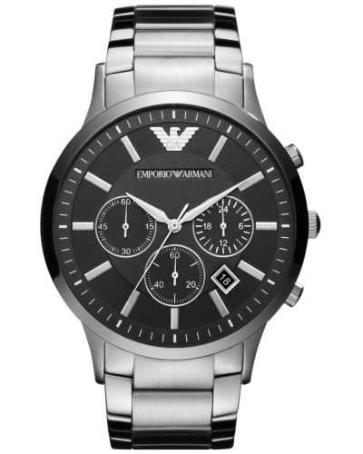 Mens Emporio Armani Classic Steel quartz Chronograph AR2460 Watch