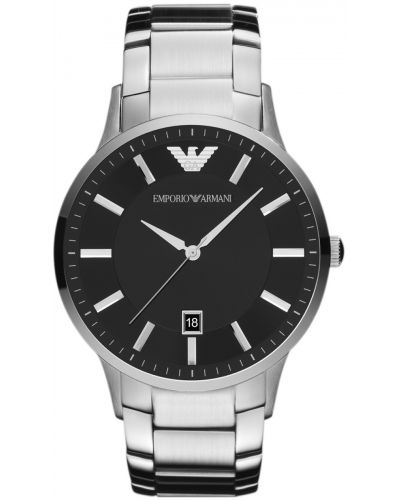 Mens Emporio Armani Classic Black Dial Steel  AR2457 Watch