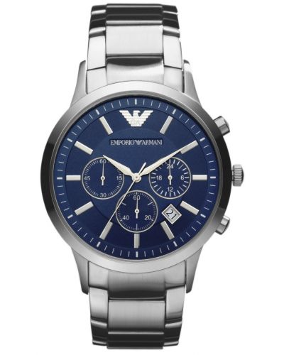 Mens Emporio Armani Classic Quartz Blue Chronograph AR2448 Watch