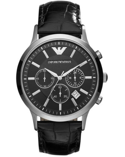 Mens Emporio Armani Classic Black chronograph Strap AR2447 Watch