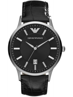 Emporio Armani Classic Black Dial stainless steel AR2411 Watch