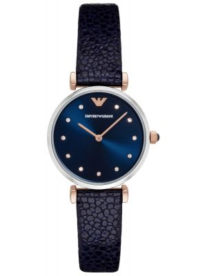 Emporio Armani Retro Stingray-embossed Blue Strap AR1989 Watch