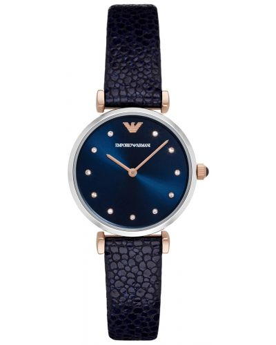 Womens Emporio Armani Retro Stingray-embossed Blue Strap AR1989 Watch