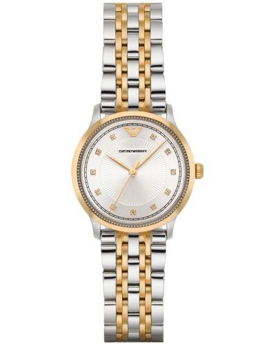 Womens Emporio Armani Dress Two Tone crystal set AR1963 Watch