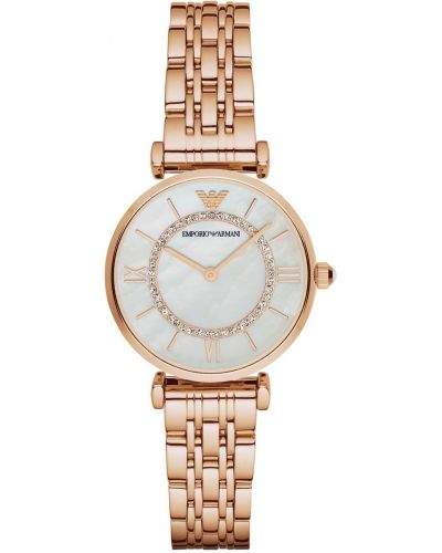Womens Emporio Armani Retro rose gold Pearl Dial AR1909 Watch
