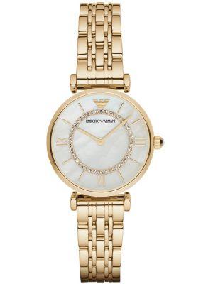 Womens Emporio Armani Retro Gold crystal set AR1907 Watch