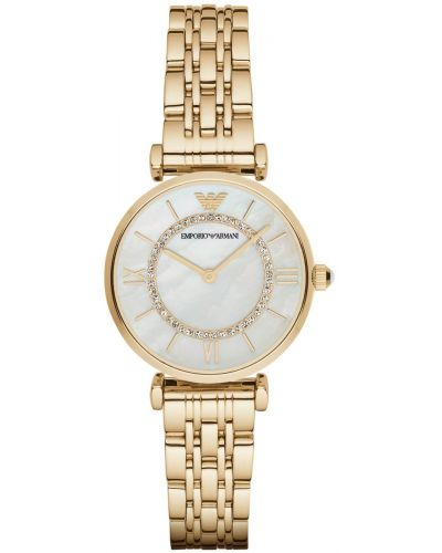 Womens Emporio Armani Retro Gold crystal set AR1907 Watch
