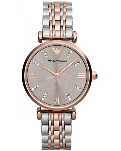 Womens Emporio Armani Retro rose gold two tone AR1840 Watch