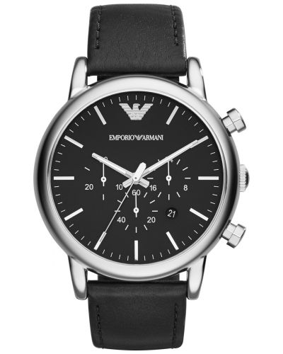 Mens Emporio Armani Classic Contemporary Black chronograph AR1828 Watch