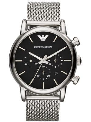 Mens Emporio Armani Classic quartz Chronograph on Mesh AR1811 Watch