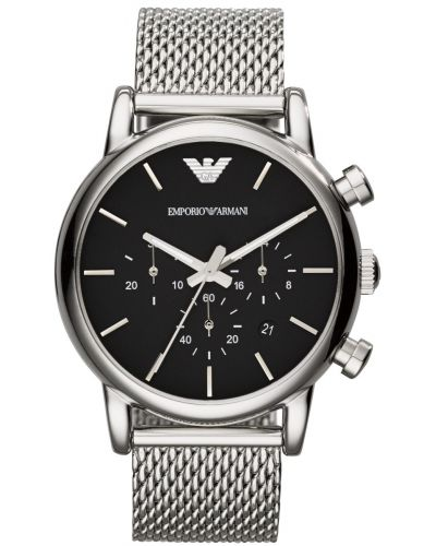 Mens Emporio Armani Classic quartz Chronograph on Mesh AR1811 Watch