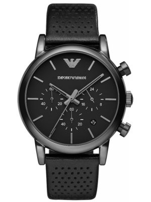 Mens Emporio Armani Classic designer Black chronograph AR1737 Watch