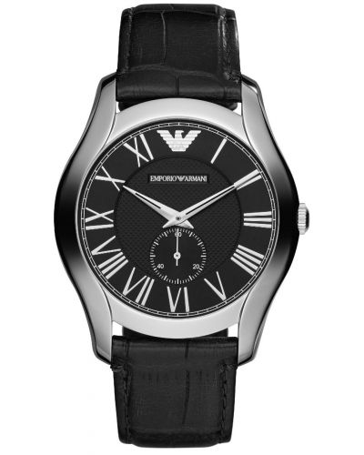 Mens Emporio Armani Classic stainless steel on Black Strap AR1703 Watch