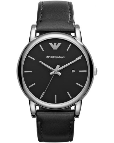 Mens Emporio Armani Classic black leather strap AR1692 Watch