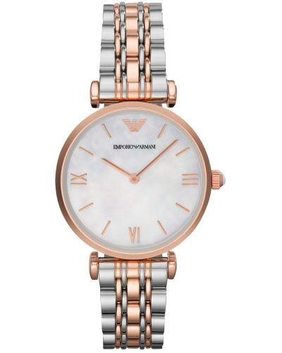 Womens Emporio Armani Retro rose gold Two tone AR1683 Watch