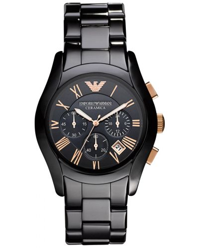 Mens Emporio Armani Classic ceramic Black AR1410 Watch