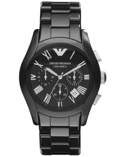 Mens Emporio Armani Classic Black Ceramic AR1400 Watch